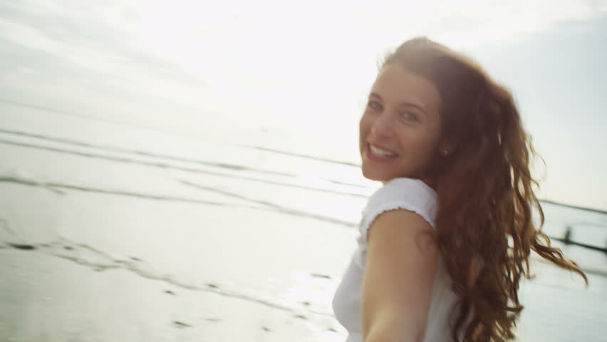 4K First person view of couple having fun in slow motion, shot on RED EPIC