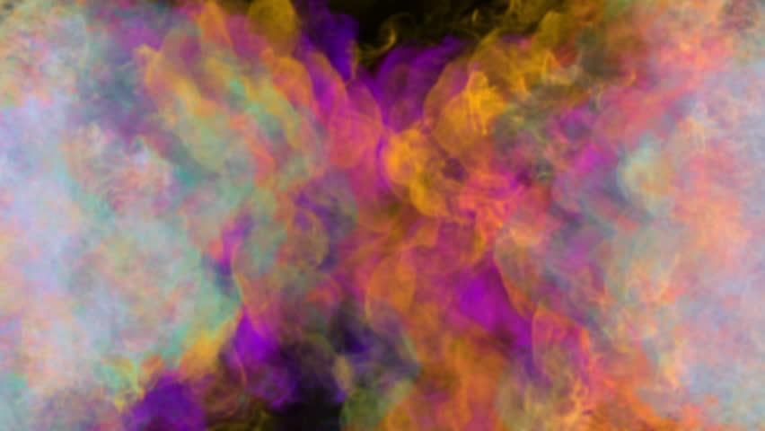 Fluid Watercolor Canvas Background Loop Stock Footage