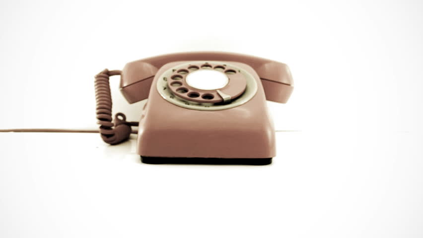 Old Phone Ringing and Moving Stock Footage Video (100% Royalty-free ...