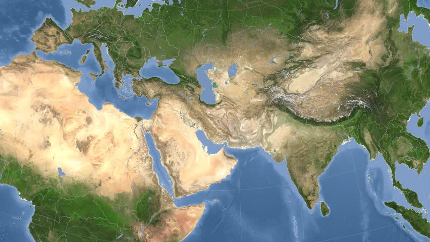 Iran On the Satellite Map Stock Footage Video (100% Royalty-free) 10035353 Setilite Map on