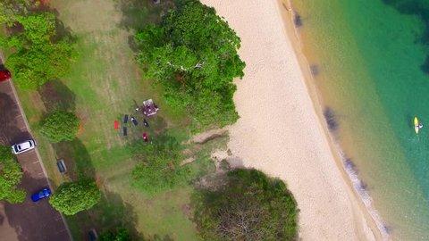Overhead view of Balmoral Beach near Sydney, Australia.