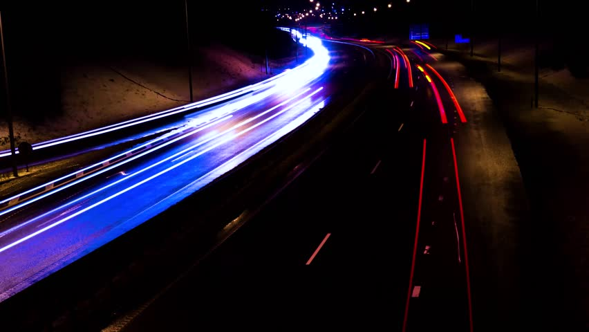 Cars on highway time lapse at night | Shutterstock HD Video #1006585903