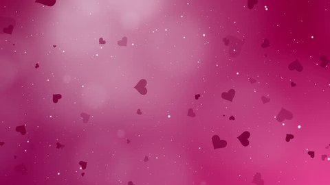 Abstract background Valentines day and love concept. Glittering elements and bokeh decorations.