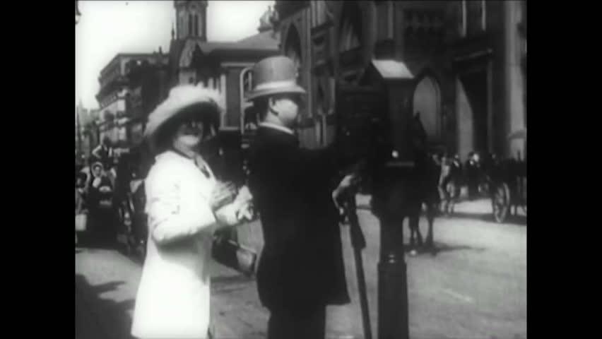 CIRCA 1900s - New York City in the 1900's.