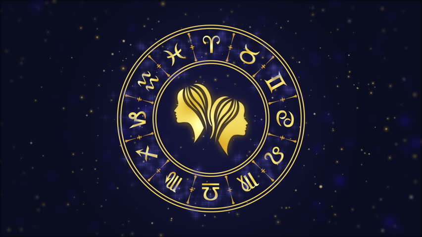 Zodiac Sign Gemini and Horoscope Stock Footage Video (100% Royalty-free)  1006800043 | Shutterstock