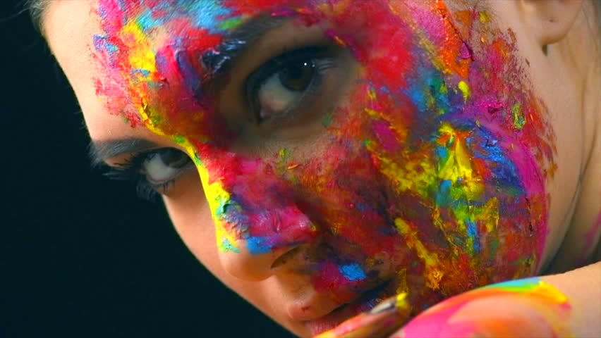 Fashion Model Girl Colorful Face Stock Footage Video 100 Royalty Free 1006981663 Shutterstock