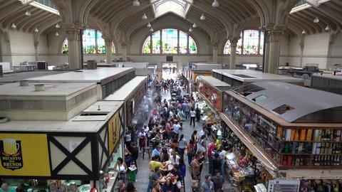SAO PAULO, SP/ BRAZIL - JANUARY 27 2018: Municipal Market (Mercadao) in Sao Paulo