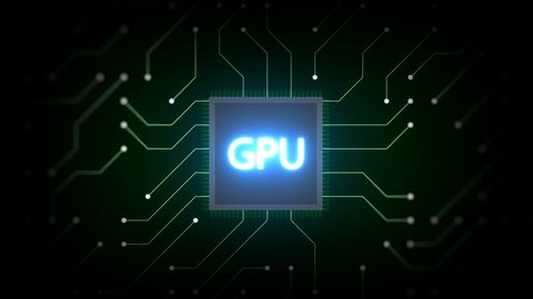 GPU ( Graphics Processing Unit ) Chip and Circuit Board, Semiconductor Technology