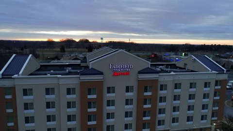 Germantown, MD - January 21, 2017: The Fairfield Inn by Marriott, a low-cost, economy chain of hotels that are franchised by Marriott International.