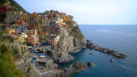 Manarola Village, Cinque Terre Coast of Italy. Manarola is a small town in the province of La Spezia, Liguria, northern Italy and one of the five Cinque terre attractions to tourist visiting Italy.