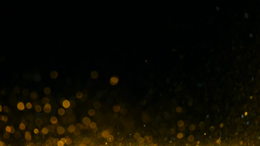 Particle seamless background, gold  particles in black background. Motion abstract of particles. Use blending mode (screen) | Shutterstock HD Video #1007234443