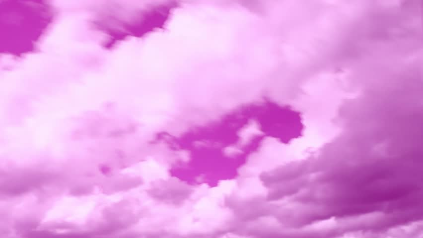 Pink unique stormy weather time lapse featuring sandstorm, lightning strike, swirling, fast-moving clouds, strong winds, sweeping rain shafts dumping monsoon rains on mountainous landscape. 4K.