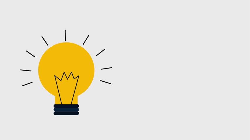 Regular lightbulb shining idea icons | Shutterstock HD Video #1007285563