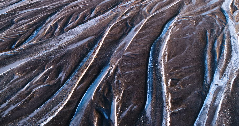river landscape in iceland, aerial view