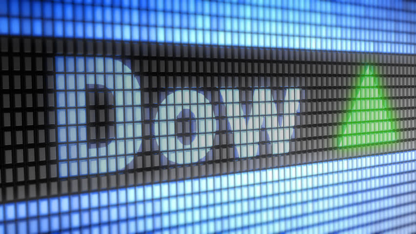 The Dow Jones Industrial Average. Up. Looping.   Shutterstock HD Video #1007334193