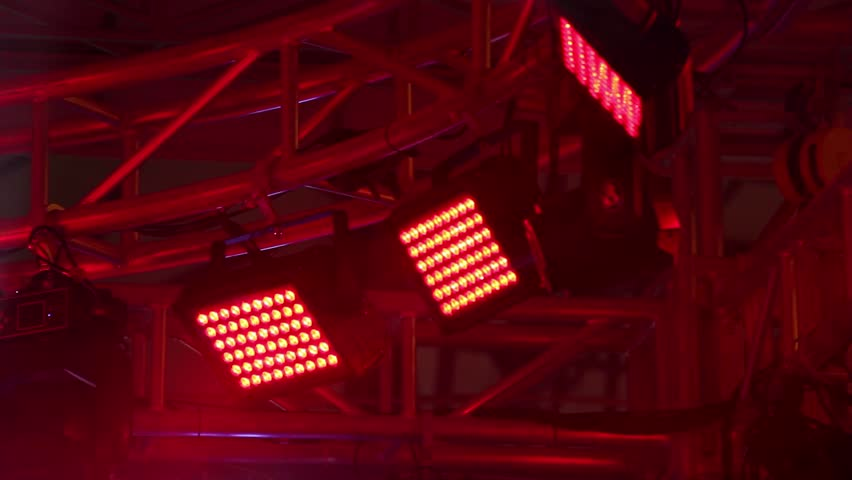 Lighting system on stage | Shutterstock HD Video #1007371123