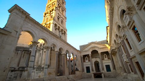Diocletian's Palace, Split, Croatia - Diocletian Palace is ancient palace built for Emperor Diocletian in historic center of Split, Croatia. It is top travel attraction for people visiting Croatia.