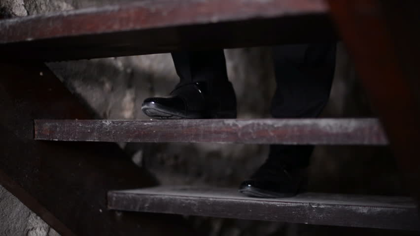 The groom going up the stairs, slow motion | Shutterstock HD Video #1007616073