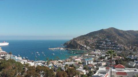 Catalina Island California aerial view