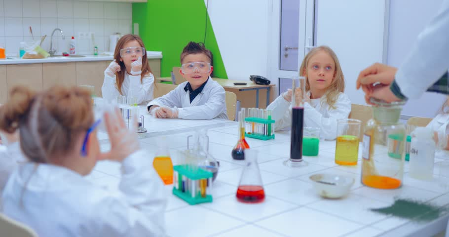 Children in Chemistry Class  Elementary Stock Footage Video (100%  Royalty-free) 1007736973 | Shutterstock