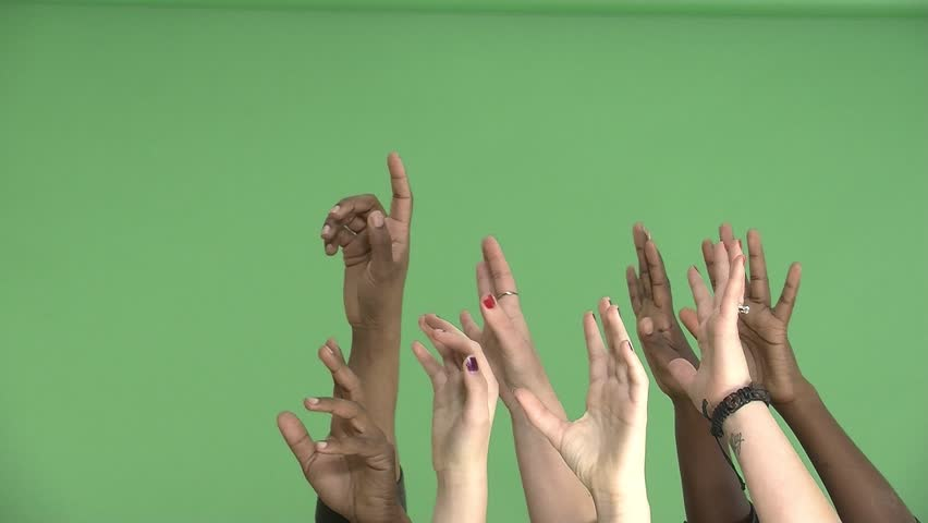 Hands Reaching Up Green Screen | Shutterstock HD Video #1007768923