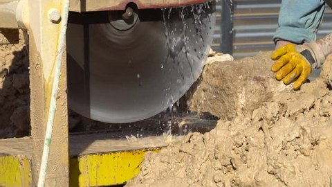 Cutting stone with water jet cutting machine