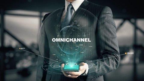 Businessman with Omnichannel