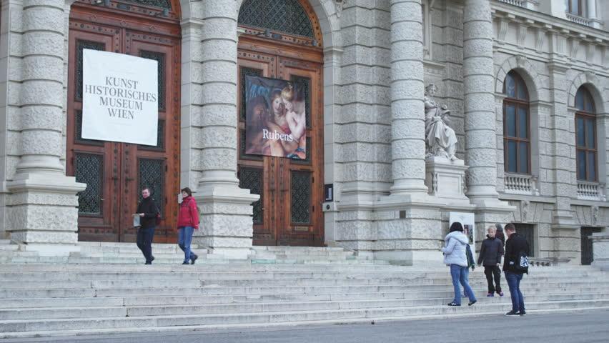 AUSTRIA, VIENA - 6 SEPT 2017: Kunsthistorisches Museum in Vienna. Exhibitions and expositions of great artists Rubens, Van Gogh.
