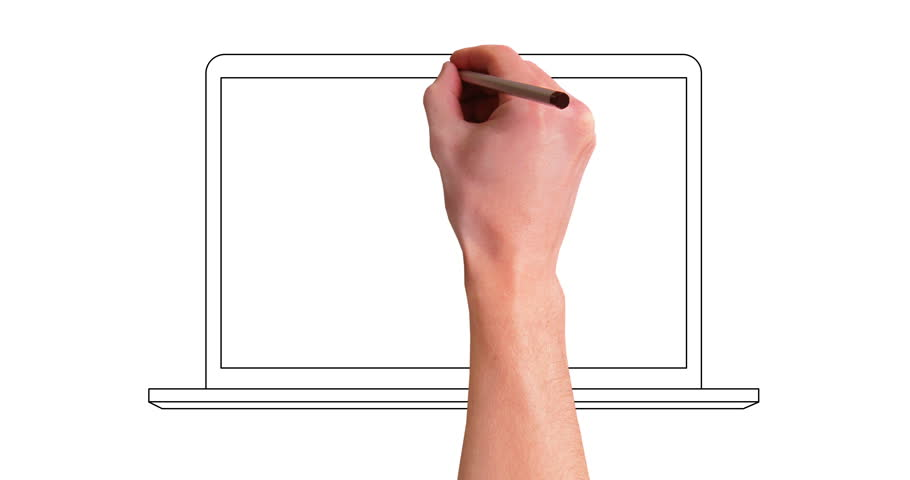 Hand Drawning Laptop Computer Whiteboard Stock Footage Video (100%  Royalty-free) 1008069973 | Shutterstock