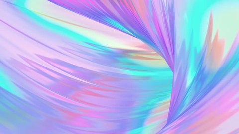 Holographic neon foil animation trend background