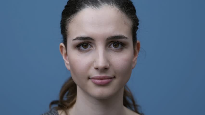 Confident young woman saying yes and smiling at camera | Shutterstock HD Video #1008148333