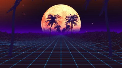 Retro 80 S VJ Digital loop animation 3D