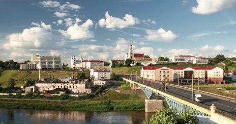 Grodno, Belarus. Bridge Across Neman River, Grodno