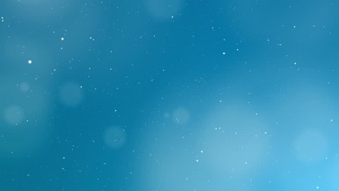 Glittering Blue Abstract Background with soft white glittering light elements and bokeh decorations on blue background design for luxury presentation.