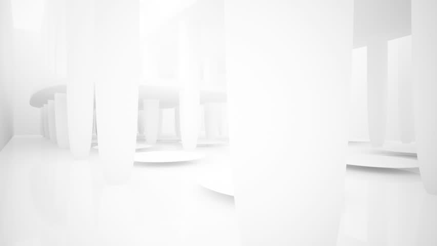 Abstract white interior multilevel public space with window. 3D animation and rendering.    Shutterstock HD Video #1008323683