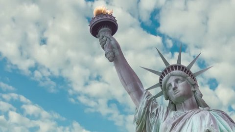 Time Lapse  of Statue of Liberty, USA