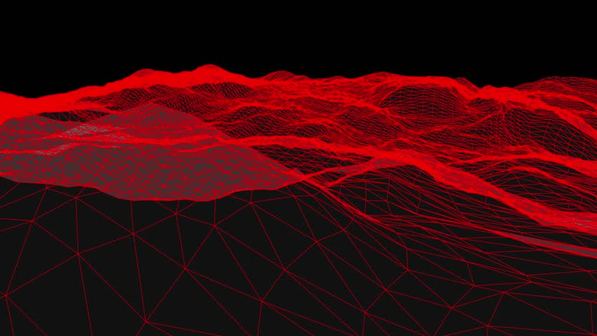Retro cyberspace grid net polygonal wireframe hilly landscape seamless loop drawing motion graphics animation background new quality vintage style cool nice beautiful 4k video footage | Shutterstock HD Video #1008462793