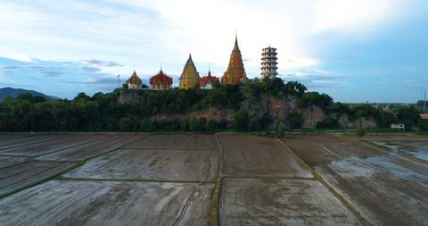 Aerial Shot from Drone, Wat Thum Sua - Tiger Cave Temple, Thailand