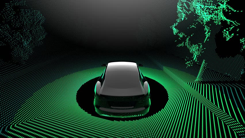 Self driving car with lidar scanner