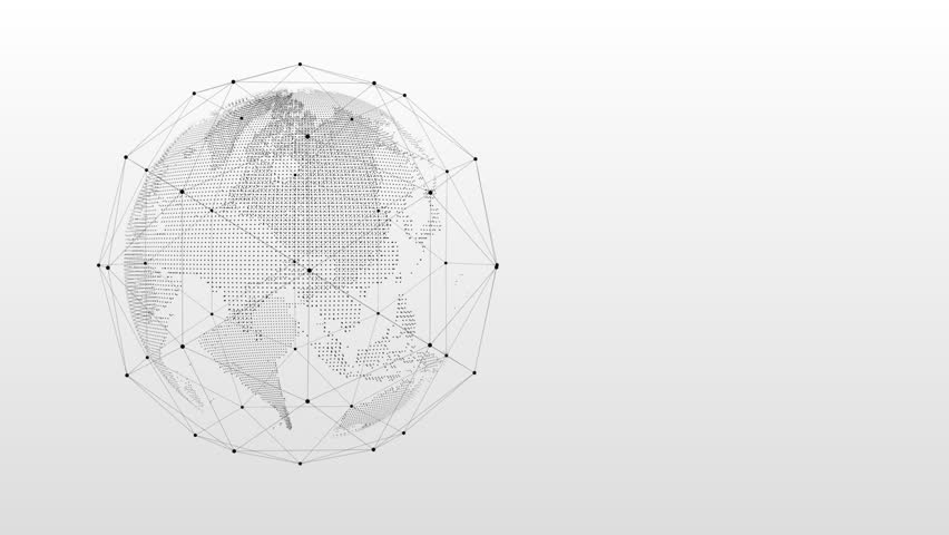 A revolving world with some technology nodes over a clean white gradient background. Perfect for presentations, infographic videos and webinars. | Shutterstock HD Video #1008521893