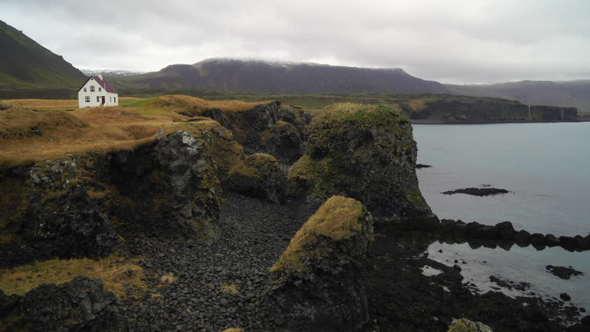 Beautiful Icelandic Seaside Landscape