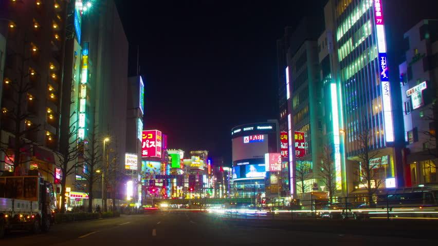 Shinjuku-ku Tokyo / Japan - 02.21.2018 : Its a city location in Tokyo. 4K & time lapse. camera : Canon EOS 5D