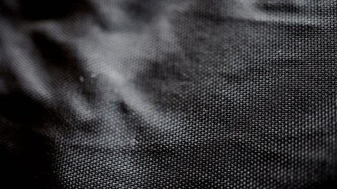 Black nylon texture material macro close up stock footage
