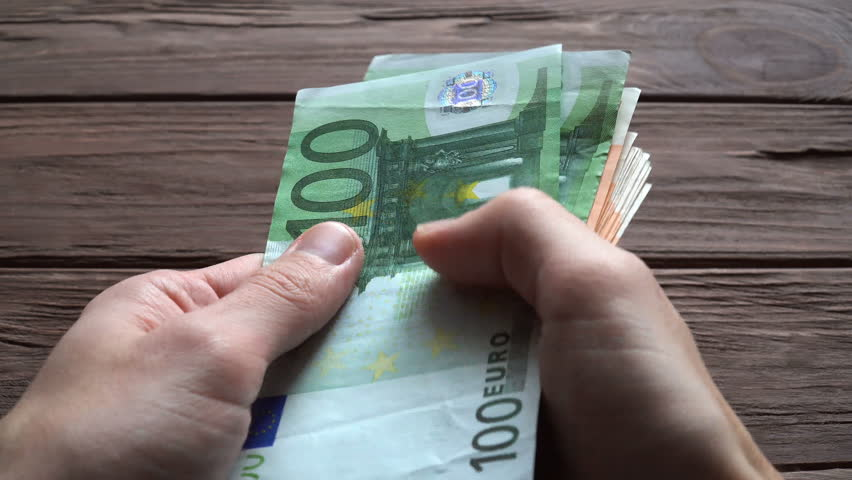 Man Counting Euro Banknotes | Shutterstock HD Video #1008956153