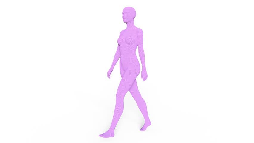 Header of female body