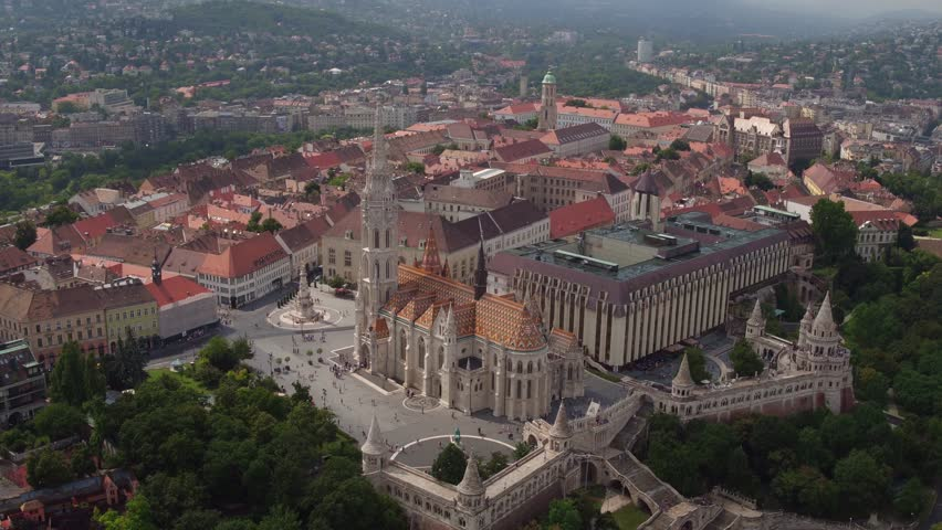 Aerial view of Budapest, Hungary. | Shutterstock HD Video #1009099733