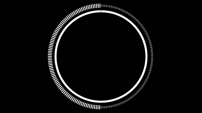 UX Dashed Clock w/ Timer. A simple and clean circular loading symbol with ticks and a secondary timer. Includes alpha channel.