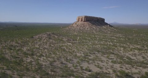 4K sunny summer aerial footage of Vingerklip rock, dramatic Urab Terraces rock formations landscape near town Khorixas enroute to Etosha National Park, central-northern Namibia, southern Africa