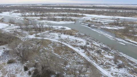 The following clip captures the majestic Platte River on a winter day in Feb of 2018.