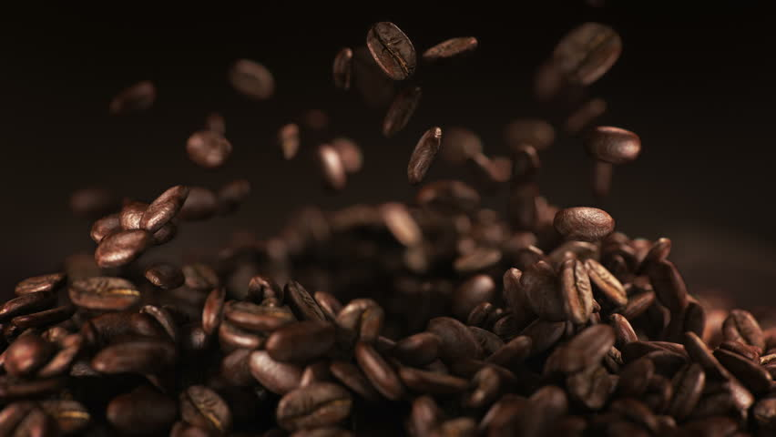 Coffee beans explosion in super slow motion 4K | Shutterstock HD Video #1009180253